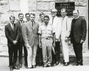 Pastor George Venz with R & R servicemen 1969