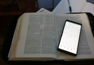 bible and phone own